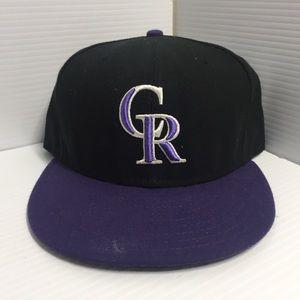 New Era Colorado Rockies Hat Size 7-3/4